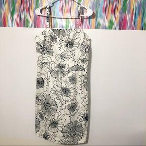 🦋 3/$15 B.Moss spaghetti strap black &white dress